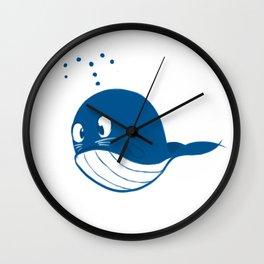 Blue whale Wall Clock