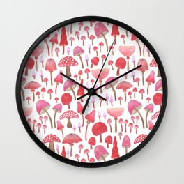 magic mushrooms Wall Clock