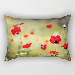 Wild Anemones Rectangular Pillow