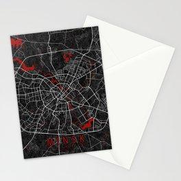 Minsk City Map of Belarus - Oriental Stationery Cards