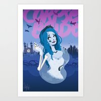 emily rickard Art Prints featuring Emily by Sarafinah