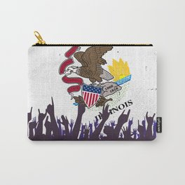 Illinoise State Flag with Audience Carry-All Pouch