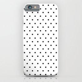 Black Polka Dots Pattern iPhone Case