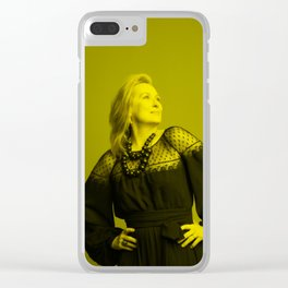 Meryl Streep - Celebrity (Florescent Color Technique) Clear iPhone Case