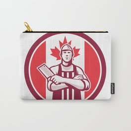Canadian Butcher Front Canada Flag Icon Carry-All Pouch