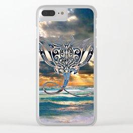 Florida Emerald Coast Stingray Clear iPhone Case