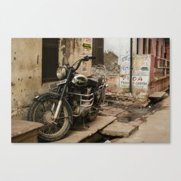 Royal Enfield Motorcycle in India Canvas Print