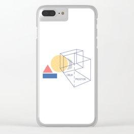 Oblik i prostor Clear iPhone Case