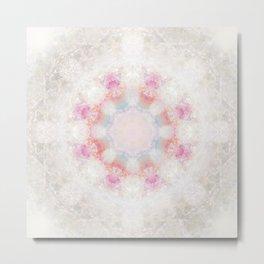 Mandala Pink Metal Print