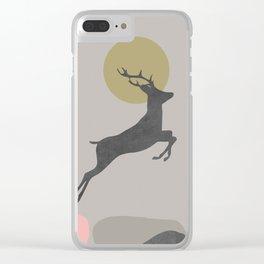 Deer Print, Woodlands Decor, Wall Art, Animals Print, Woodlands Nursery Art, Kids room Decor Clear iPhone Case