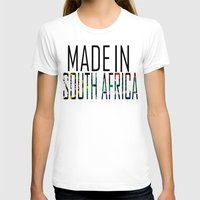 south africa T-shirts featuring Made In South Africa by VirgoSpice