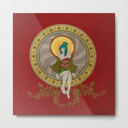Mandala Girl Metal Print
