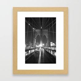 Brooklyn Bridge B/W Framed Art Print