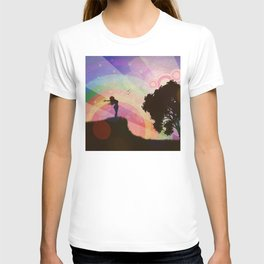 Freedom and rainbow T-shirt