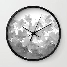 Autumn leaves. Maple leaves. Wall Clock