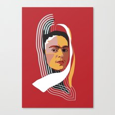 Abstract Frida Kahlo  Canvas Print