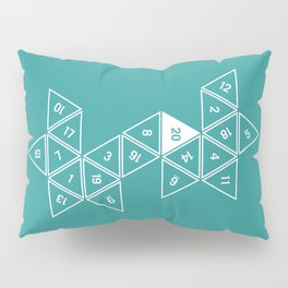 Teal Unrolled D20 Pillow Sham