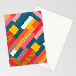 Colorful blocks Stationery Cards