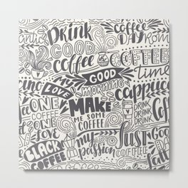 Drink coffee pattern Metal Print