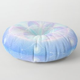 Light Frequency Mandala | Seed of Life Floor Pillow