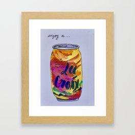 Enjoy a LaCroix Framed Art Print
