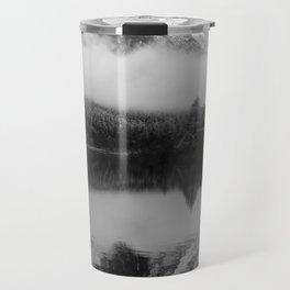 Black and White Sichuan Mountains China Travel Mug