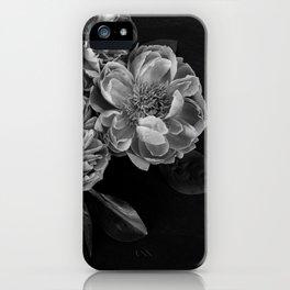 big gray flowers iPhone Case
