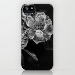 big gray flowers iPhone Case