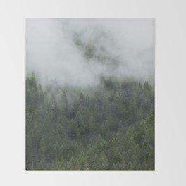 Tree Fog Throw Blanket