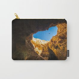 Dramatic sea cave along Algarve coast in Portugal Carry-All Pouch