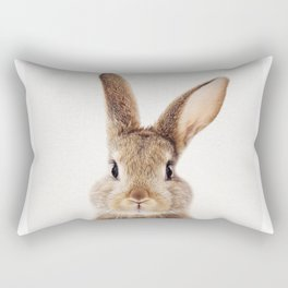 Baby Rabbit, Baby Animals Art Print By Synplus Rectangular Pillow