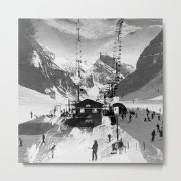 Ski Lift Metal Print
