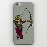 archer iPhone & iPod Skins featuring Archer (variation) by Natalie Easton