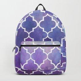 Purples & Pinks Watercolor Moroccan Pattern Backpack