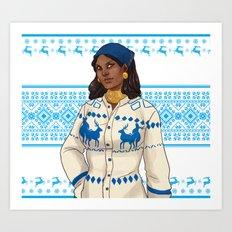 Very Merry Isabela Art Print