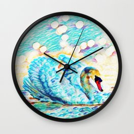 Swan Life   Painting  Wall Clock