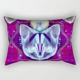 Pixel Galacticat Mirror Rectangular Pillow