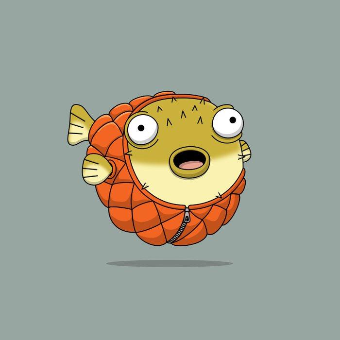 Puffer fish Comforters