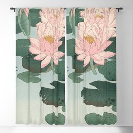 Lotus Lilies  Blackout Curtain
