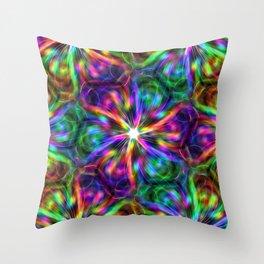 Psychedelic Mandala ornaments hand drawn nature digital abstract Throw Pillow