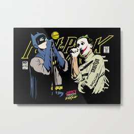 The Post-Punk Face-Off Metal Print