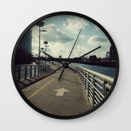 river walkin' Wall Clock