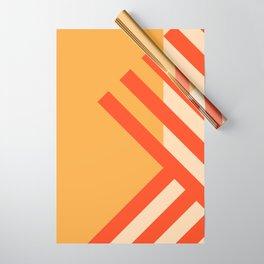 GEOMETRY ORANGE II Wrapping Paper