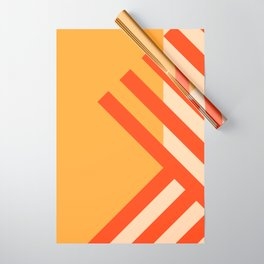 GEOMETRY ORANGE II Wrapping Paper