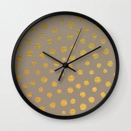 FANCY GOLDEN DOTS Wall Clock