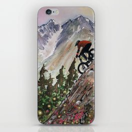 Downhill Biker iPhone Skin
