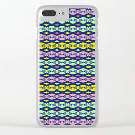 Retro Vintage Micro Pattern Midcentury Modern Clear iPhone Case