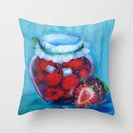 Jam jar Throw Pillow