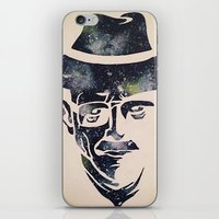 walter white iPhone & iPod Skins featuring Walter by Kayleigh Kirkpatrick