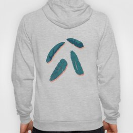 Falling Blue Leaves #society6 #decor #buyart Hoody